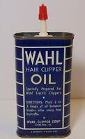 Vtg 1950s WAHL OIL CAN TIN 3 OZ OILER WAHL HAIR CLIPPERS BARBER SHOP STERLING IL