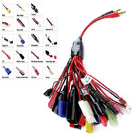 19 in 1 RC Lipo Battery Multi Charge Lead Adapter Cable Wire 19 Different Plugs