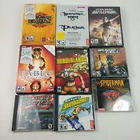 Lot of 9 - PC Games Spider-Man, Secret Service, Backyard Skateboarding, Fable +