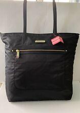 Victoria Secret Tote Bag Handbag Black Leopard Print Lining Light Weight Nylon