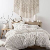 BRAND NEW Linen House Sanura White Duvet Doona Quilt Cover Set  Cotton