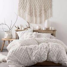 Linen House Sanura White Super King Quilt Duvet Doona Cover Set
