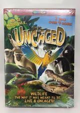 Uncaged (DVD, 2012, 3-Disc Set) Costa Rica Antarctica India Wildlife IRL Questar