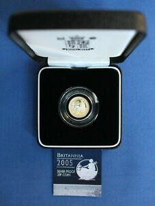 2005 Royal Mint 1/10oz Silver Proof Britannia 20p coin in Case with COA