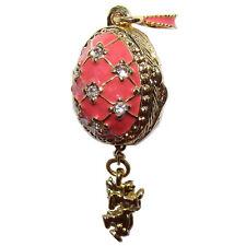 ANGE Pendentif Oeuf style Faberge Pendentif rose en forme d oeuf avec un Ange