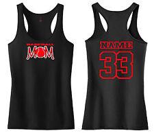 BASEBALL MOM RACERBACK TANK TOP SHIRT LITTLE LEAGUE PEE WEE T-BALL