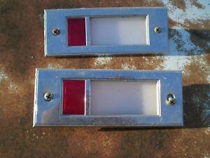 65 66 67 FORD GALAXIE XL 500 LOWER DOOR PANEL LIGHTS W/ SCREWS OEM LEFT RIGHT