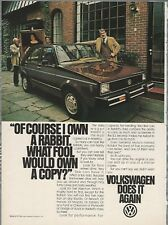 1979 VOLKSWAGEN RABBIT advertisement, VW ad, brown sedan Rabbit