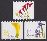 DIE CUT QP = LILY = IRIS = 3 Coil sts Canada 2004 #2072aii,2073aii, 2074aiii