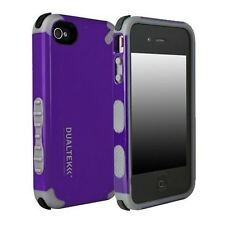 For Apple iPhone 4 4S Phone Case Cover Purple Black Hybrid Shockproof Rubber