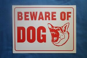 Beware of Dog Sign 12x9 Plastic Sign Warning Signs No Trespassing Dogs Will Bite