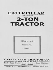Caterpillar 2 - TON  Operator Instructions