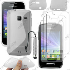 Housse Coque Silicone Transparent Samsung WAVE Y S5380 + Mini Stylet + 3 Films