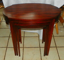 Mahogany Hepplewhite Nesting Tables / End Tables by Mersman (T229)