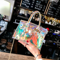 Women Shoulder Bag Laser Transparent Crossbody Bags Messenger Beach Bag