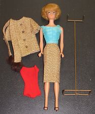 ~Original 1958 / 1962 Ash Blonde Midge Barbie Doll Box Gold Powder Blue Dress~