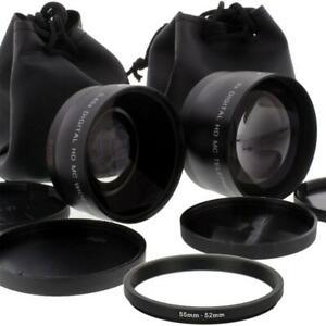 .43x Wide Angle Lens and 2x Telephoto Converter for Nikon SLR Camera Lenses