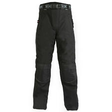 Any Size! Mens Black Armoured Waterproof Motorcycle / Long Zip Over Trousers
