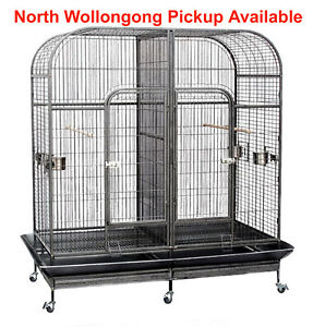 185cm Pet Twin Double Bird Cage Parrot Cockatoo Aviary Removable Divider