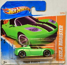 HOT WHEELS 2011 TRACK STARS TESLA ROADSTER #2/15 SHORT CARD