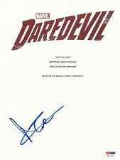 "CHARLIE COX SIGNED ""DAREDEVIL"" FULL SCRIPT SCREENPLAY AUTHENTIC AUTO PSA/DNA PSA"
