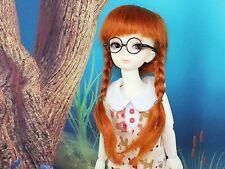 """Carrot 8-9"""" Mohair 1/3 BJD SD Super Dollfie Mohair Pigtail Wig"""