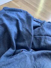Linoto Twin Linen Coverlet Duvet Cover Denim Look