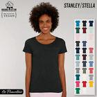 Womens Organic Cotton Scoop Neck T-Shirt Stanley Stella Short Sleeve Top Tee