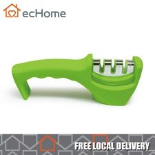 EcHome Knife Sharpener Chef Razor Kitchen Metal Ceramic Knives Blades Tool Green