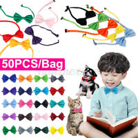 🔥 50x/Set Dog Car Puppy Pet Bow Tie Bowtie Necktie Neck Makeup Collar