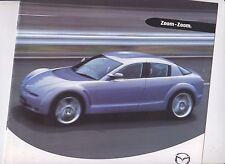 2001 MAZDA Range Australian Brochure RX-8 MX-5 ASTINA SP20 MILLENIA PREMACY etc