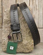 Negro De Dos Tonos Diseñador Cinturón de Cuero 100% Ocultar Cinturón Negro Nuevo del primer