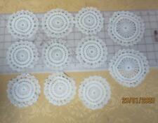 12 vintage crocheted crochet white doilies perfect for Christmas Angel ornaments