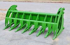 "John Deere Tractor Loader Attachment 84"" Root Rake Grapple Bucket - Ship $199"