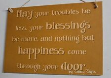 Welcome To Our Home Blessings Happiness Sign Shabby Rustic Chic Door Entry Cute