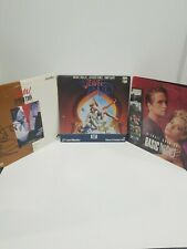 Lot of 3 Laserdiscs - Michael Douglas - Fatal Attraction Basic Instinct Jewel