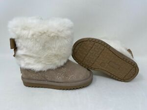 NEW! Canyon River Blues Toddler Girl's Emeri Fur Lined Boots Tan #26266 141N r