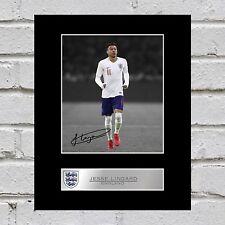 Jesse Lingard Signed Mounted Photo Display England