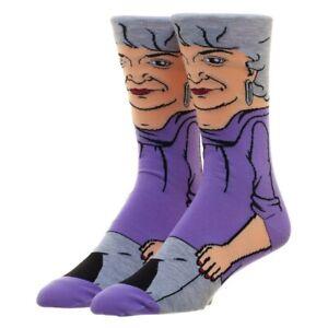The Golden Girls Dorothy Zbornak Bioworld Crew Socks Men's/Women's 8-12 Adult