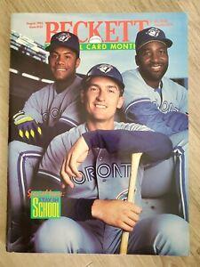 Beckett Baseball Card Monthly August 1993 Issue #101 Alomar, Carter & Olerud