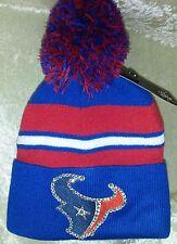 Houston Texans Womens Knit Beanie Rhinestone Bling Cap Hat ~NEW~
