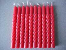 10 pcs Red Spiral Reserve Candles for Christmas Tree Clip Candle Holders. New