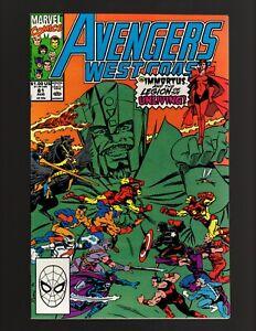 Avengers West Coast #61~ 1st Cameo Timekeepers 1990 Marvel- (NM 9.4)