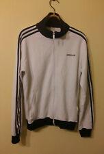 Adidas Original Beckenbauer Track Jacket Vintage Styled Black White Mens Size: L