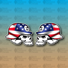"Set of 2 Metal Mulisha American Flag Merica 3"" Custom Vinyl Decal Sticker JDM"