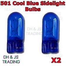 2 x 501 Cool Blue Sidelight Bulbs 12v 5w Capless Car Auto Side Light Bulb Pair