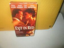 EXIT IN RED rare Sexy Thriller vhs MICKEY ROURKE Carrie Otis 1996