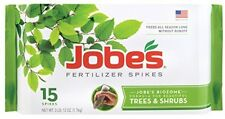 Jobe's 1610 Tree Outdoor Fertilizer Food Spikes, 15 Pack, New, Free Shipping
