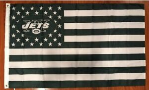 NFL New York Jets Stars and Stripes Flag Banner - 3X5 FT - FAST USA SHIPPING