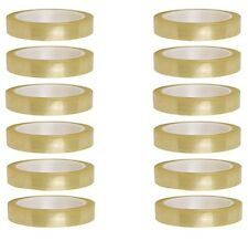 """12 X ROLLS CLEAR PACKING TAPE CELLOTAPE SELLOTAPE 25MM 1"""" X 66M"""